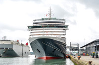 22 May 2015. Cunard Queen Victoria departing Southampton
