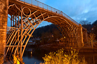 14th January 2012. Dusk at Ironbridge