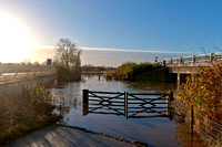 23 November 2012. River Avon floods around Barford