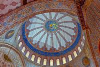 18 November 2012. Inside the Blue Mosque, Istanbul.