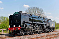 23rd April 2011. un-named 70000 hauls The Cathedrals Express