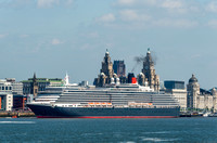 31 May 2014. Queen Victoria departs Liverpool