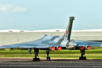 15 June 2012. Vulcan XM655 has been moved onto Runway 05