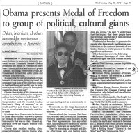 27 April 2012. The Presidential Medal of Freedom