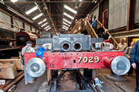 4 August 2012. 7029 Clun Castle - Overhaul progress at Tyseley Loco Works.
