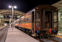 8 March 2014. Private Pullman car attached to California Zephyr