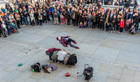 9 November 2014. Trafalgar Square street entertainment.