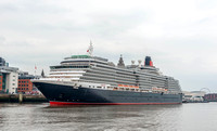 30 May 2014. Cunard's Queen Victoria arrives at Liverpool.