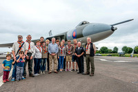 15 June 2014. W&W at Wellesbourne. - Presenting the VULCAN Scouts.