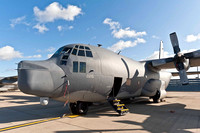 18th October 2011. A Lockheed C-130 Hercules at RAF Mildenhall (US base)