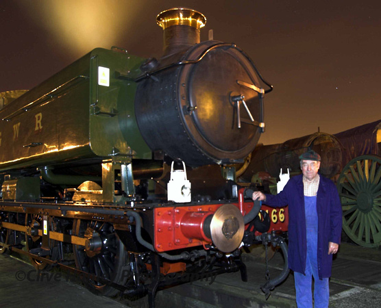 Owner Dennis Howells stands with his loco. (Sorry my focus was out)