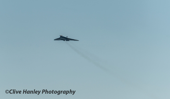 After the disaster XH558 paid its respects with a simple flypast in tribute.