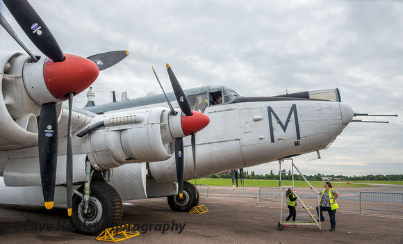 Avro Shackleton WR963 is now in taxiable condition.