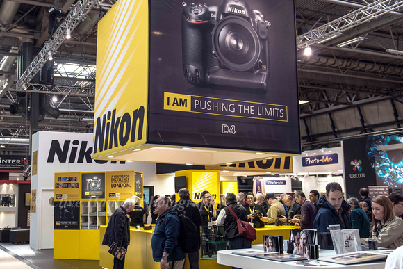 Of course I headed directly to the Nikon stand.