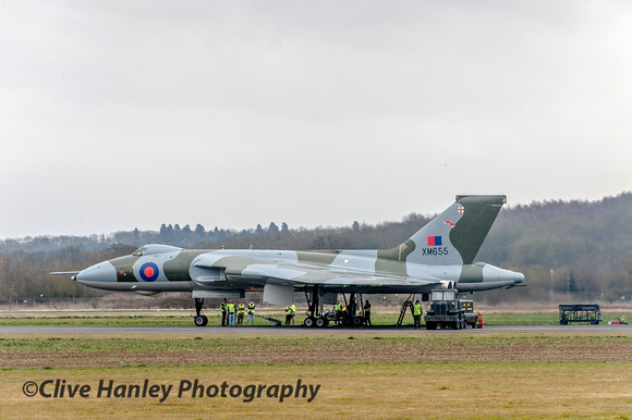 Vulcan XM655 was already fired up when I arrived at Wellesbourne. I'd travelled down from Lancashire in the morning.