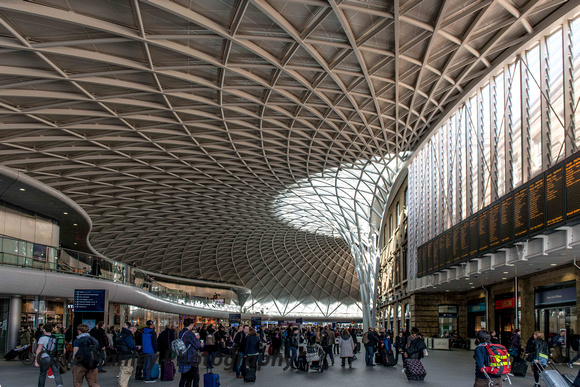 The new passenger concourse at Kings Cross.