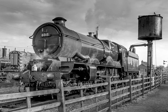 For this evening only King Class 4-6-0 no 6023 was renumbered and named King Richard III