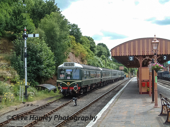 Not much has changed in 14 years. The same DMU sits in the same loop line at Bewdley.