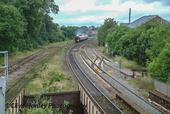 The ecs move from Tyseley appears moving down the track from Bentley Heath.