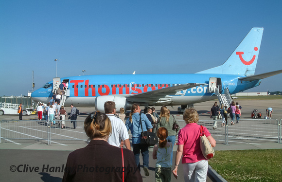 Flying from the very short lived commercial airport at Coventry with Thomson Holidays.