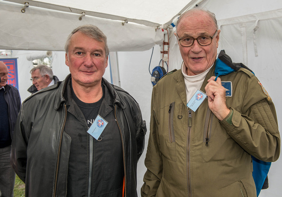 Sqn Ldr (ret'd) Andy Marson with Gp Capt (ret'd)John Laycock