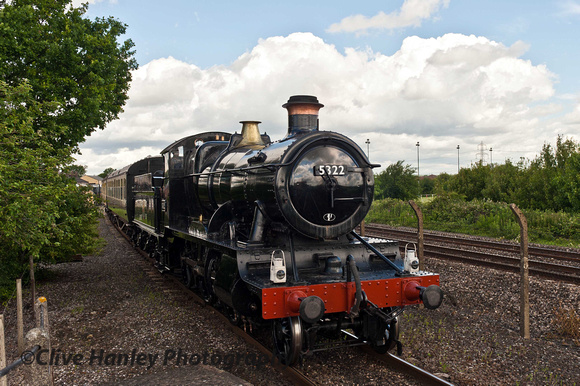2-6-0 no 5322 has recently received a black livery after a couple of years in Desert Sand.