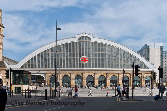 Finally the exterior of Lime Street Station is revealed in all its glory.