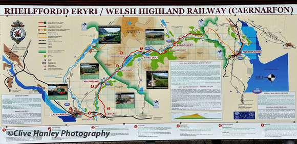 The Welsh Highland Railway map