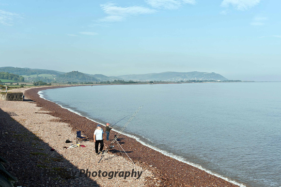After a move to Blue Anchor here's a shot of the high tide looking towards Minehead.