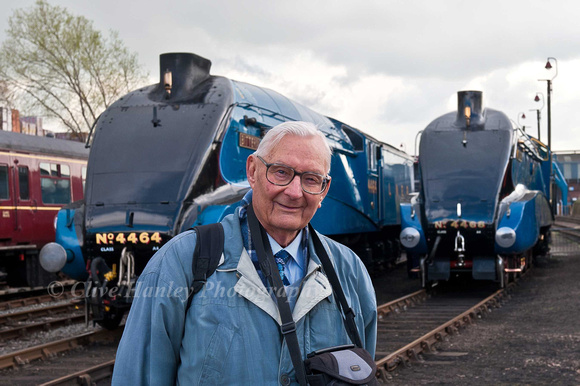 "Former Kings Cross ""Top Shed"" Shedmaster, Peter Townend was a VIP guest to see some of the locos he coaxed to superlative performance on the ECML."