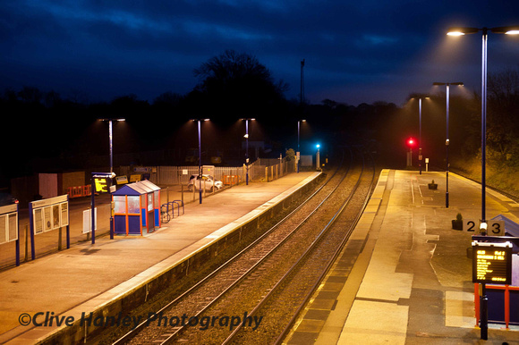Stupid o'clock at Hatton station. All was quiet.