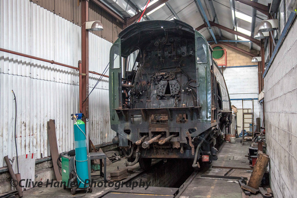 Hidden away in the dark depths of Ropley Locomotive Works lurks a Bulleid Pacific. Which one?