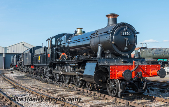 At Toddington I took a look at locos on shed. Manor Class no 7820 Dinmore Manor