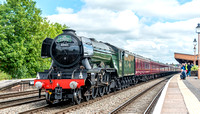 13 June 2017. Flying Scotsman passes through Leamington Spa