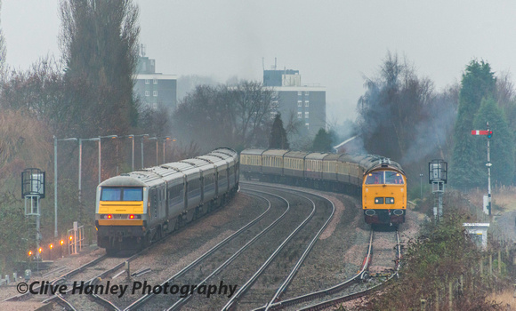 I was surprised to find a Class 52 Western diesel in the loop-line. on arrival at Kidderminster.