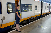 "21 & 22 June 2014. Preparing to depart on a ""Great Rail Journey""."