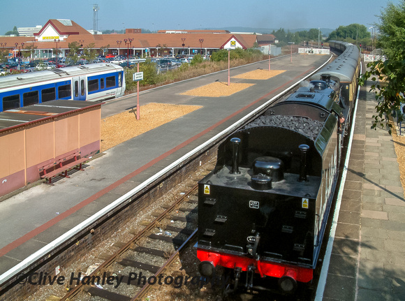 45305 arrives at Stratford upon Avon with the morning Shakespeare Express