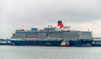 23 June 2016. 3 Cunard Queens in the Solent