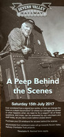 "15 July 2017. ""A Peep Behind the Scenes"" at the SVR"