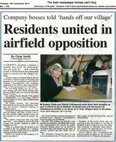 16 December 2014. Residents united in airfield opposition.