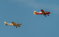 21 September 2014. A Bulldog T1 & Grob 115E (aka the Tutor) in formation.