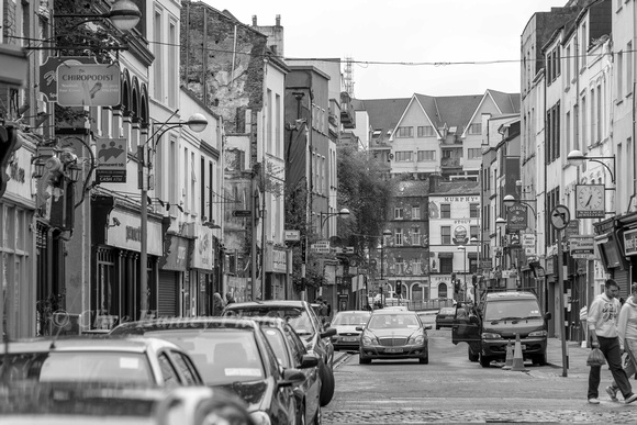 On a recent visit to Cork the weather was pretty awful so Ive turned most photos to b&w.