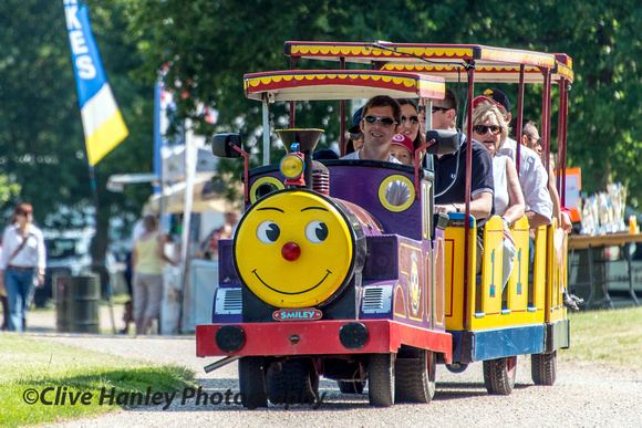 The Happy Smiley Train was ferrying passengers around the grounds of the hall.